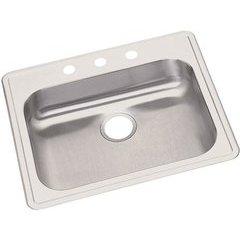 Dayton 25 Inch Single Bowl Sink 1 Faucet Holes - Satin