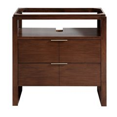 "33"" Giselle Single Vanity - Natural walnut"