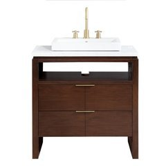 "33"" Giselle Single Vanity - Carrara White Marble Top"
