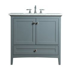 Tower Modern 36 Inches Single Sink Bathroom Vanity - Grey