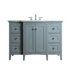 Tower Modern 48 Inches Single Sink Bathroom Vanity - Grey