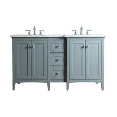 Tower Modern 60 Inches Double Sink Bathroom Vanity - Grey
