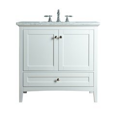 Tower Modern 36 Inches Single Sink Bathroom Vanity - White