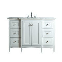 Tower Modern 48 Inches Single Sink Bathroom Vanity - White