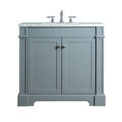 Seine 36 Inches Single Sink Bathroom Vanity - Grey