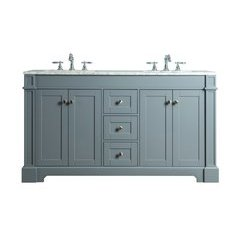 Seine 60 Inches Double Sink Bathroom Vanity - Grey