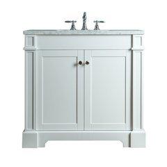 Seine 36 Inches Single Sink Bathroom Vanity - White
