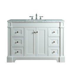 Seine 48 Inches Single Sink Bathroom Vanity - White