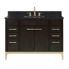"49"" Hepburn Combo Vanity - Black Granite Top"
