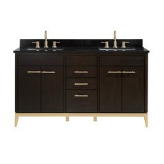 "61"" Hepburn Combo Vanity - Black Granite Top"