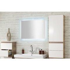 Illume Juno 20 x 36 Inch Rectangular Backlit Mirror - Polished Aluminum