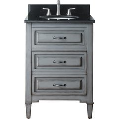 "25"" Kelly Single Vanity - Black Granite Top"
