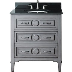 "31"" Kelly Single Vanity - Black Granite Top"