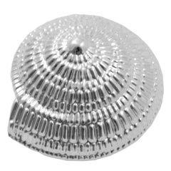 Oceana 1.67 Inch Width Swirl Cabinet Knob - Polished Chrome