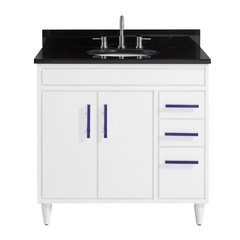 "37"" Layla Combo Vanity - Black Granite Top"