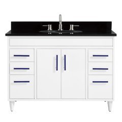 "49"" Layla Combo Vanity - Black Granite Top"
