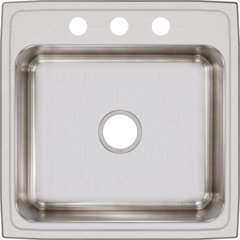 Lustertone Classic 22 Single Bowl Drop-in Sink - Lustrous Satin