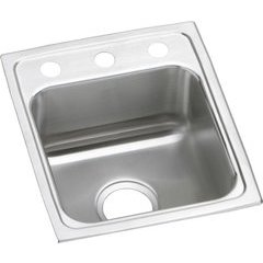 Lustertone Classic 18 Single Bowl Drop-in ADA Sink - Lustrous Satin
