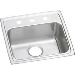 Lustertone Classic 19 Single Bowl Drop-in ADA Sink - Lustrous Satin