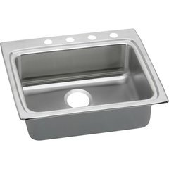 Lustertone Classic 22 Single Bowl Drop-in ADA Sink - Lustrous Satin