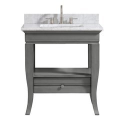 "31"" Milano Single Vanity - Carrera White Marble Top"