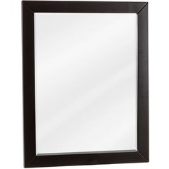 "22"" x 28"" Cade Contempo Black Mirror with Beveled Glass"