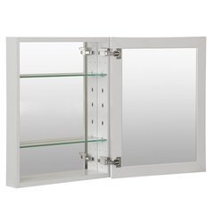 "16""X20"" Metal Medicine Cabinet Beveled Mirror, Slow Close, Metal Side Kit-White"