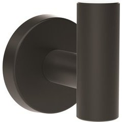Arrondi 2-1/4 Inch Length Contemporary Robe Hook - Matte Black