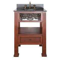 "25"" Napa Single Vanity - Black Granite Top"