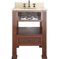 "25"" Napa Single Vanity - Galala Beige Marble Top"