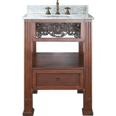 "25"" Napa Single Vanity - Carrera White Marble Top"