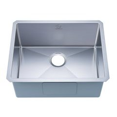 "23"" Undermount Single Bowl Kitchen Sink - Stainless Steel"