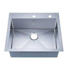 "25"" Top Mount Single Bowl Kitchen Sink - Stainless Steel"