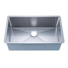 "30"" Undermount Single Bowl Kitchen Sink - Stainless Steel"