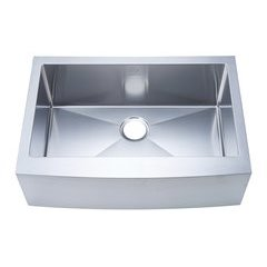 "30"" Apron Front/Farmhouse Single Bowl Kitchen Sink - Stainless Steel"