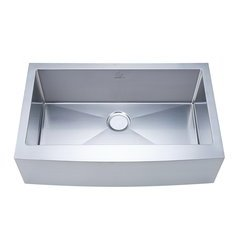 "33"" Apron Front/Farmhouse Single Bowl Kitchen Sink - Stainless Steel"