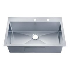 "33"" Top Mount Single Bowl Kitchen Sink - Stainless Steel"