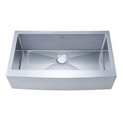 "36"" Apron Front/Farmhouse Single Bowl Kitchen Sink - Stainless Steel"