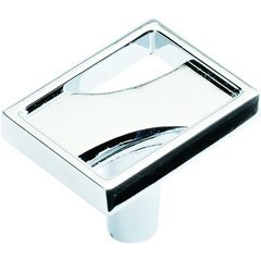 River 1-1/8 Inch Diameter Chrome Cabinet Knob