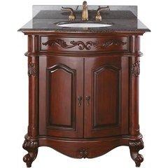 """31"""" Provence Single Vanity - Imperial Brown Granite Top"""