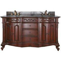 "61"" Provence Double Vanity - Imperial Brown Granite Top"