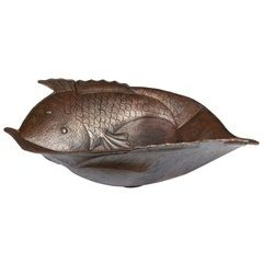 19 x 18 Inch Two Fish Vessel/Above Counter Sink - Oil Rubbed Bronze