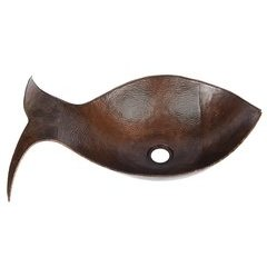 20.5 x 13.5 Inch Fish Vessel/Above Counter Sink - Oil Rubbed Bronze