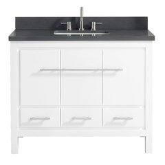 "43"" Riley Combo Vanity - Gray Quartz Top"