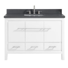 "49"" Riley Combo Vanity - Gray Quartz Top"