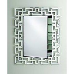 Radiance 30 x 36 Rectangular Single Door Mirrored Medicine Cabinet - Green Key - Contemporary