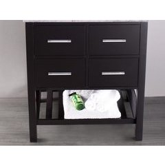 "29"" SB250-1 Single Vanity Cabinet Only-Black"