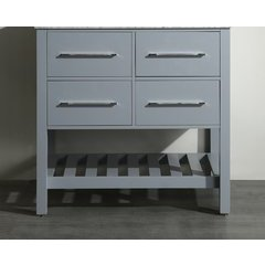 "35"" SB250-3GRMC Single Vanity Cabinet Only-Gray"