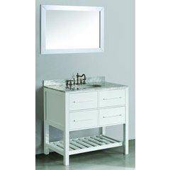 """36"""" SB250-3WH Single Vanity w/ White Carrara Top-White"""