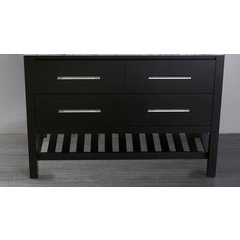 "47"" SB250-4BMC Single Vanity Cabinet Only-Black"